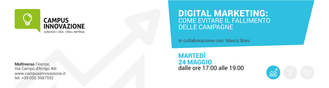 24/5 ore 17.15 – Digital Marketing: Come evitare il fallimento delle Campagne
