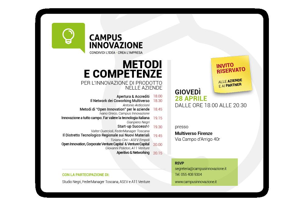 28/4 dalle 18.00 – Nuovo Campus Innovazione – Edizione 2016 Toscana